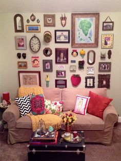 I've always needed a trunk as a table in my dream home but the wall of eclectic nonsense is necessary too - I've some amazing starter pieces. Great ideas here to expand my collection.