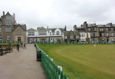 Along the 18th green at the Old Course - St. Andrews, Scotland