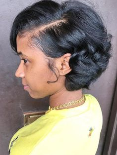 Short hairstyles for black women,hairstyle ideas for African American girls!you may need virgin hair bundles with closure to do it. - Rabake Hair Brazilian Straight Human Hair 3 Bundles With Closure Brazilian Virgin Hair Straight With Closure Cute Haircuts, Cute Hairstyles For Short Hair, Short Hair Cuts, Straight Hairstyles, Short Hair Styles, Black Hairstyles, Beautiful Hairstyles, Relaxed Hairstyles, Straight Ponytail