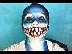 ▶ SHARK GIRL Makeover! - YouTube this girl has some AWESOME and simple face paints