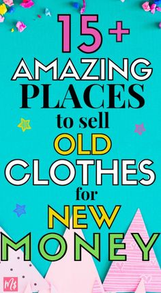 Clear up space in your closet! Make more money appear in your wallet when you start selling new, used, recycled, vintage or high end clothes online. Hunt for flips at the local thrift store and sell it on 15 different websites/apps, you can earn a full-ti Make Quick Money, Make Money From Home, Way To Make Money, Make Money Online, How To Make, Money Fast, Sell Old Clothes, Earn More Money, Extra Money