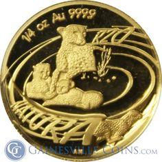 2002 South African Cheetah 4 Coin Proof Gold Natura Prestige Set http://www.gainesvillecoins.com/