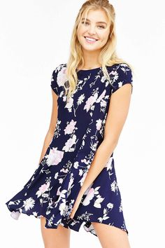 Casual Dresses for Women Blue And White Dress, Urban Dresses, Urban Outfitters Dress, Draped Dress, Floral Maxi, Swing Dress, Casual Dresses, Kimchi, Cute Outfits