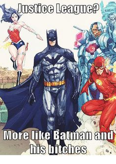 Just Batman and his bitches... - Don't Hate The Geek