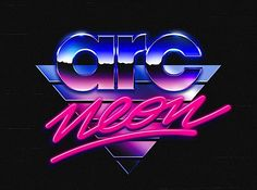 Creative Overglow, Retrofuturistic, Logos, Typography, and Retro image ideas & inspiration on Designspiration Inspiration Typographie, Typography Inspiration, Typography Design, Logo Design, Graphic Design, Retro Typography, Design Inspiration, 80s Logo, Neon Logo