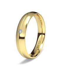 #AlianzaELEKA, la forma más redonda de expresar una emoción. Oro amarillo de 18K modelo Dos superficies #novias, #bodas.#bodas #alianzas #novia | cnavarro.com