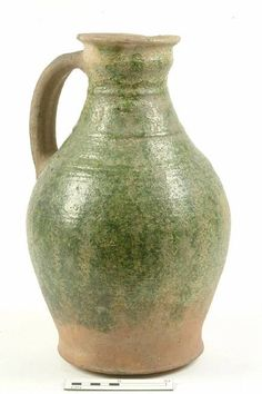 jug Production date: Early Medieval; mid-late century Measurements: H 360 mm; Medieval Furniture, English Pottery, Stoneware, Earthenware, London Museums, Pottery Designs, Pots, 12th Century, Ancient Artifacts
