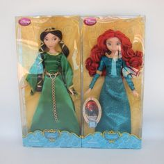 Disney Store Original Princess Merida Queen Elinor Clasic Brave Movie Sold Out #DollswithClothingAccessories