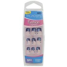 Broadway Nails Fashion Express Hottest Designs Medium Length BCD10 Scandalous by Broadway. $0.79. Hottest designs!. Medium length. 24 nails in 12 sizes. Glue on nails. Brand new item.  Factory sealed and hard to find style!. Save 89% Off!