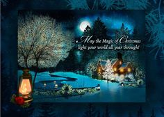 Christmas Card with serene picture... send this today by just clicking it and following the directions to send a real card through the mail.  Less expensive than big box stores!! Ability to customize also....