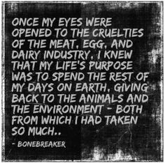 RIGHT?! It took me all of 2 wiki pages to go from Nazi monster to Vegan - I looked up what halal meant then wondered how it compared to regular slaughterhouses: I could never be part of such cruelty ever again. Sometimes I get a hankering for something that's not available vegan in the city I'm currently in - like a donut, and then I ask myself, is the HORRIFIC suffering of another living being, like myself, worth it? HELL NO. Besides, with the right ingredients and equipment, I can make my…