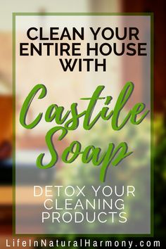 Use these castile soap recipes to clean your house top to bottom. Detox your cleaning routine by eliminating harmful toxic chemical cleaners. Natural Cleaning Solutions, Natural Cleaning Recipes, Natural Cleaning Products, Castile Soap Uses, Castile Soap Recipes, Natural Air Freshener, Chemical Free Cleaning, Goat Milk Soap, Biodegradable Products