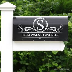 Custom Mailbox Monogram Decal Monogrammed Gifts by decaliciouscom