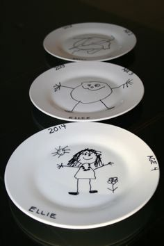 Have the kids decorate a plate with permanent markers and bake. Oven safe plate from dollar store. Place (oven-proof) glass plate in a 300 degree pre-heated ... & Dollar store plate w/sharpie;bake at 150 for 30 minutes. | Craft ...