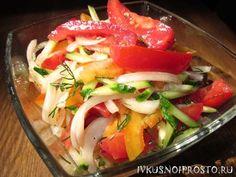 Салат из огурцов помидор и перца - рецепт с фото | И вкусно и просто