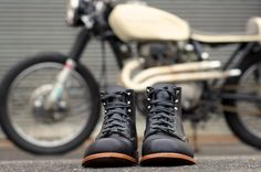 Cafe Racer Boots › 1973 Cl360 Cafe Racer And Wolverine 1000 Mile Boots