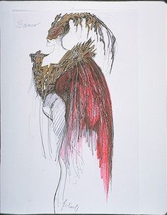 Josef Jelínek   Costume designs for Macbeth by Václav Riedelbauch and William Shakespeare, New Stage of the National Theatre, Prague, 1984