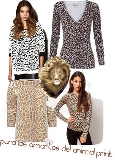 """sueters animal print"" by maryrec on Polyvore"