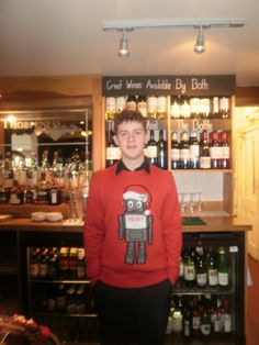 Our Barman in his festive jumper!