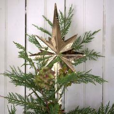 Brass Star Tree Topper in HOLIDAY TRIM THE TREE Skirts+Toppers at Terrain