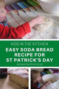 A simple recipe for Soda Bread that even toddlers can make. No buttermilk needed as this use's a cheat's buttermilk in the recipe.