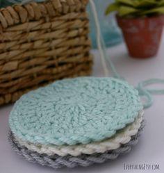 Circle Washcloth Crochet Pattern on EverythingEtsy.com