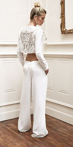[CONCERTO16] | Thurley what a great bridal pant look which can be worn again later together or as separates.
