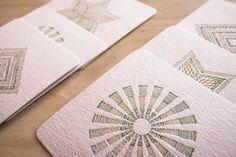 Obra. Tarjetas Posavasos Packaging, Coasters, Cards, Wrapping