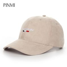 6082dc12073 PINMI 2017 Women Snapback Cap Suede Baseball Caps Men Khaki Black Letter  Brookside Adjustable Unisex Dad