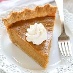 An easy and delicious recipe for Homemade Pumpkin Pie. This is the only pumpkin pie recipe you will ever need and it's perfect for the holidays!
