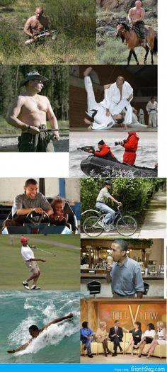 Putin Vs Obama Activities - Giant Gag