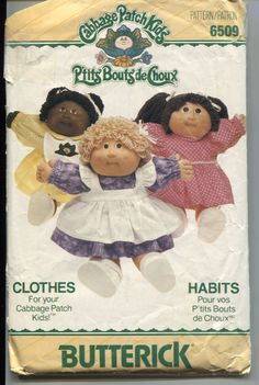 Butterick 6509 Dresses Pattern for Your Cabbage Patch Kids Dolls by OnceUponAnHeirloom on Etsy