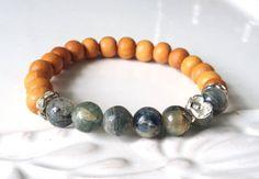 Blue Kyanite and Sandalwood Gemstone Stretch by LoveandLulu