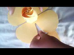 Hướng dẫn làm hoa hồng backdrop kiểu 1 - YouTube
