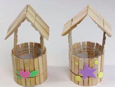 Cómo hacer casita con pinzas de madera