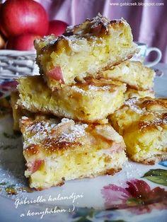 Lusta asszony rétese gyümölccsel Hungarian Desserts, Hungarian Recipes, Hungarian Food, My Recipes, Cookie Recipes, Favorite Recipes, Light Desserts, Cake Cookies, Food Inspiration