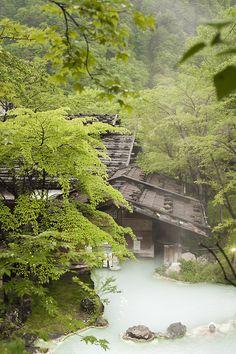 Shirahone onsen, well known for its healing waters, Matsumoto Northern Alps Area, Matsumoto City, Nagano, Japan by chrislesage38