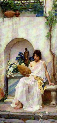John William Waterhouse - Flora