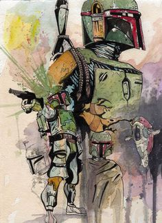 boba is the coolest character in star wars. Star Wars Love, Star Wars Fan Art, Star War 3, Star Trek, Boba Fett Art, Star Wars Boba Fett, Jango Fett, Images Star Wars, Star Wars Pictures