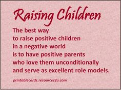 quotes about kids helping at home | quotes about kids helping at home | Raising Children Cards Printable ...