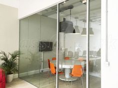 Laminated acoustic partitioning and framed glass door for Open Room Events in Ealing, London. Glass Partition, Cultural Center, Noise Reduction, Glass Door, Acoustic, Diy Projects, Doors, London, Frame