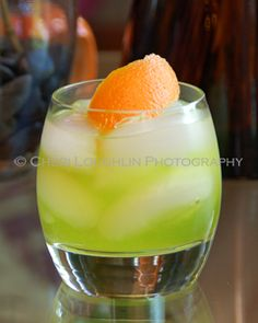 Antifreeze    (2 measures Citrus Vodka    1 measure Melon Liqueur    2 measures Lemon Lime Soda)