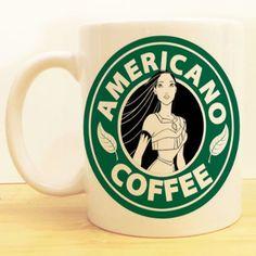 Americano Coffee Mug |  Pocahontas Starbucks |  Disney
