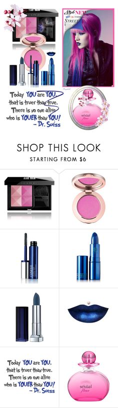 """May Beauty in Dark Blue and Pink"" by ragnh-mjos ❤ liked on Polyvore featuring beauty, Givenchy, Clinique, Lipstick Queen, Maybelline, WALL, Michel Germain and Lancôme"