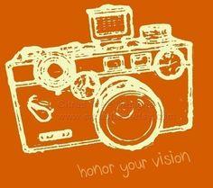 VINTAGE ARGUS Orange Honor Your Vision  by CitrusTreeDesigns, $20.00