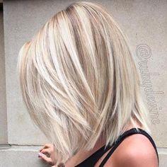 Medium Layered Blonde Hair