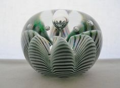 INCREDIBLY Marvelous ART Glass PAPERWEIGHT Intriguing BUBBLE Designs UNSIGNED