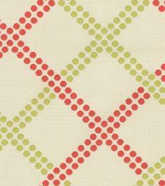 Upholstery Fabric-Waverly Crossways/Watermelon