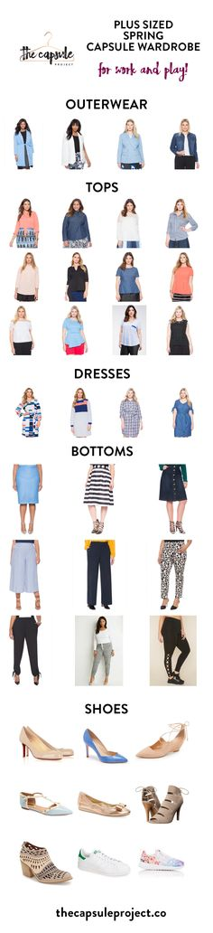 Colorful and feminine Plus-Sized Capsule Wardrobe for Spring 2016