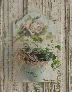 Flor em tábua de corte